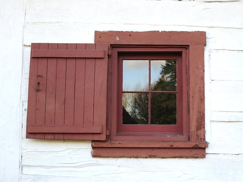 Fort Langley storehouse window