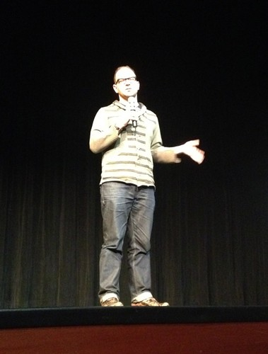 Cory Doctorow in Albuquerque - Spyware * Freedom * Connection by mikey and wendy