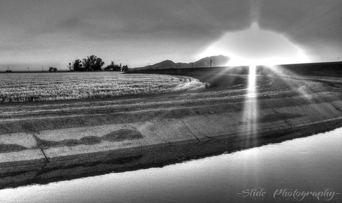 sunset sun white black field set canon photography grey canal is d slide powershot h r hdr s5 s5is