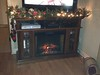 New fireplace decorated for Christmas