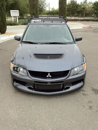 for sale evo 8 9 yakima roof rack with fairing. Black Bedroom Furniture Sets. Home Design Ideas