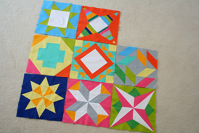 Summer Sampler blocks