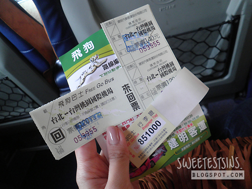 taiwan taipei trip may 2012 day 1 - 4 taoyuan airport freego bus tickets