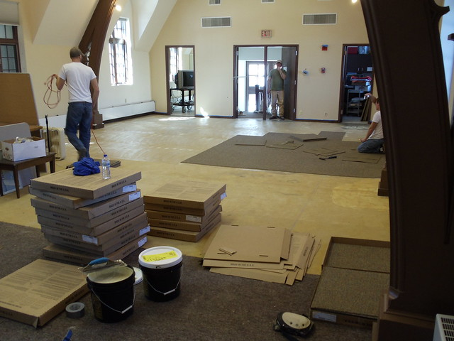 New carpeting getting installed.
