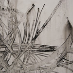Bamboo Detail III - Ink on Vellum - Heidi Jung: Black and White, Jeffco Alumni Exhibition