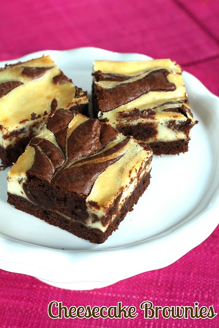 Cheesecake Brownies with Text