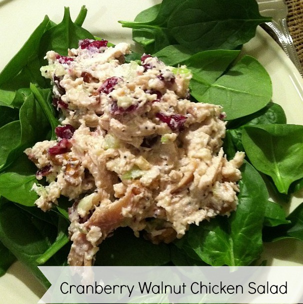 Using Roast Chicken Leftovers: Cranberry Walnut Chicken Salad