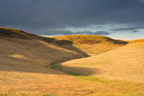 morning blue brown yellow sunrise colorado unitedstates prairie grasslands arvada leyden