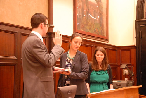 Nate Tisa gets sworn in