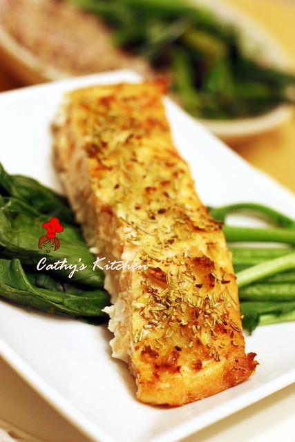 迷迭香料烤鮭魚片 Rosemary with Salmon 1