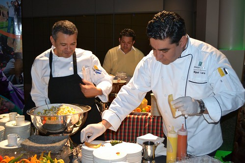 Chef Ismar Reyes (left) and sous chef
