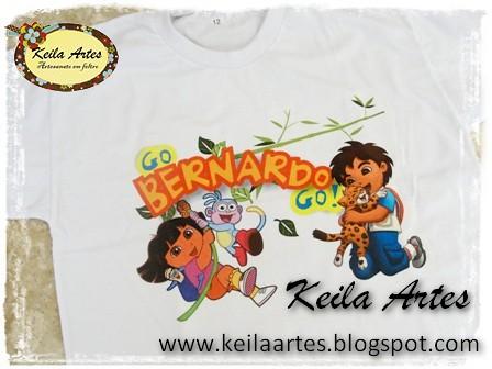 CAMISETA PERSONALIZADA - TEMA DORA AVENTUREIRA by KEILARTES