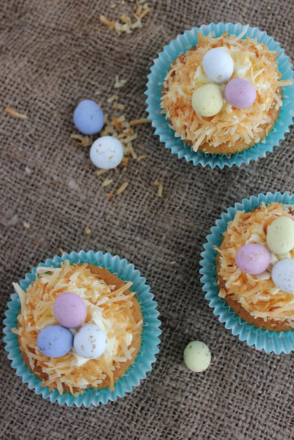 Easter Egg Nest Cupcakes