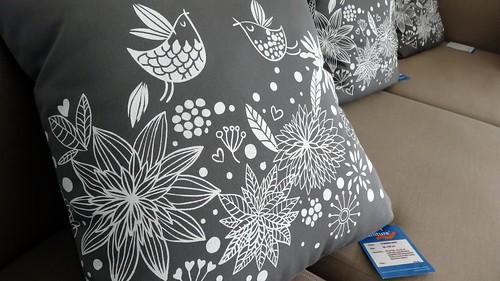 screen printed pillows