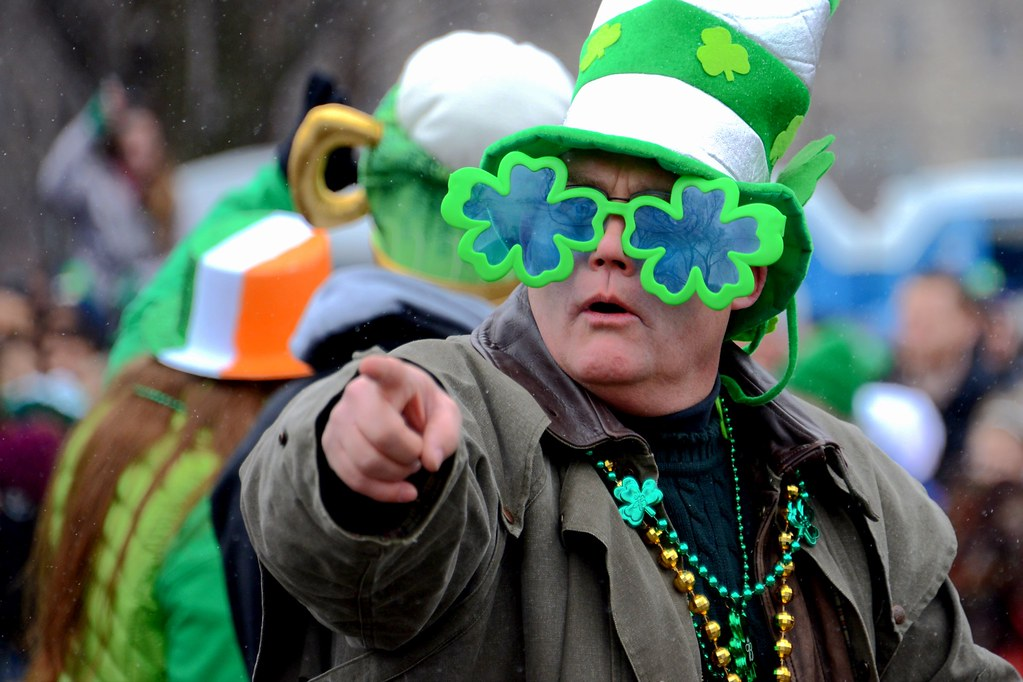 Chicago man in St Patrick's Day Parade