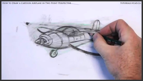 learn how to draw a cartoon airplane in two point perspective 034