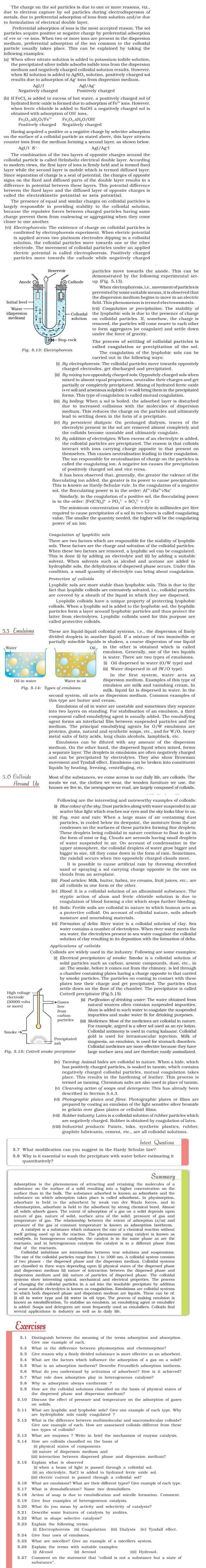 NCERT Class XII Chemistry Chapter 5 - Surface Chemistry