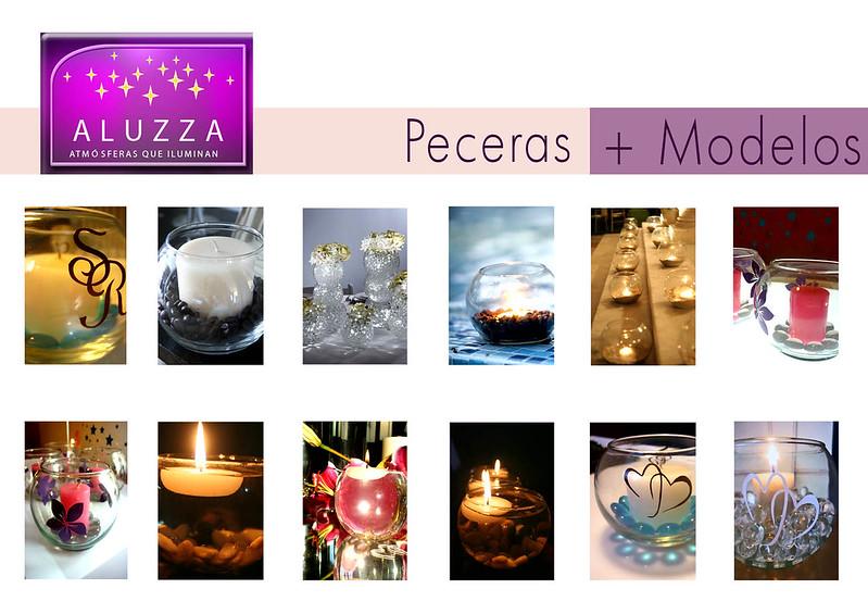 peceras con velas flotantes
