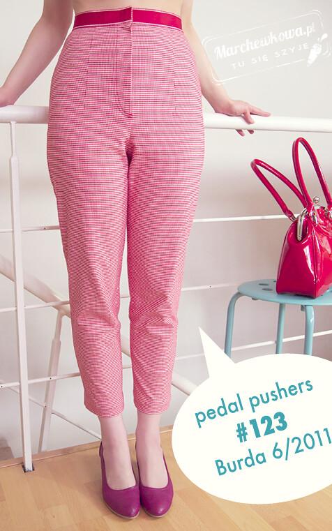 1901945f18 Marchewkowa - tu się szyje!  Pedal pushers (spodnie z trykotu 123 z ...