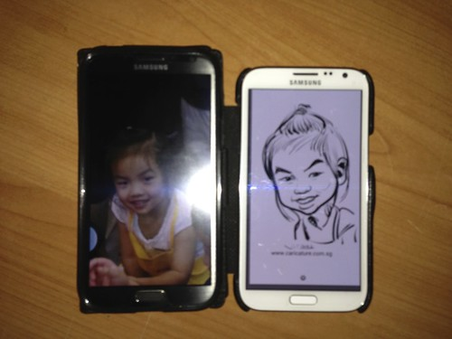 digital caricatures on Samsung Galaxy Note 2 for Stabilo - 6