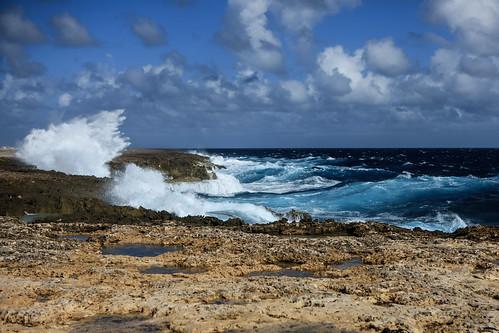 ocean sea water rock landscape coast wave creativecommons caribbean bonaire netherlandsantilles yabbadabbadoo
