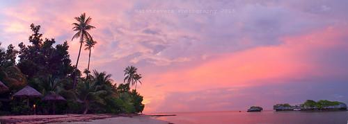 sunset seascape indonesia olympus resort wakatobi wangiwangi patuno natstravers southeastsulawesi