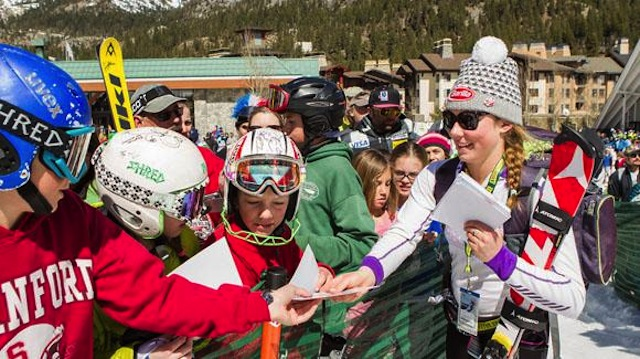 Mikaela Shiffrin and fans