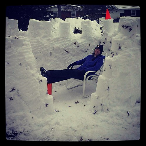 Just chillin' in my crib. #snow