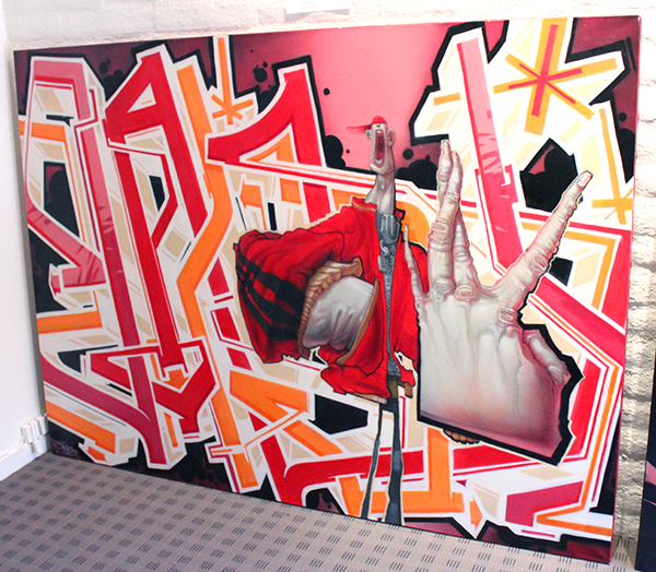 """provocations"" graffiti exhibit at vigraha gallery in prescott arizona"