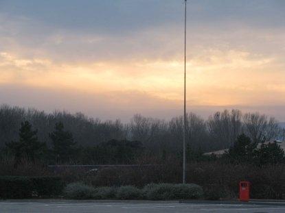 8l29 Amanecer en Caldetes y regreso a París012 Ocaso en la A75