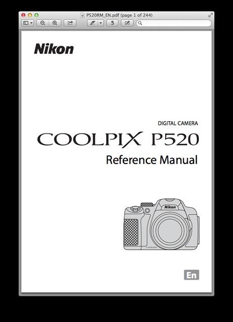 Nikon P520 Manual