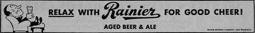 1942 Relax with Rainier for good cheer