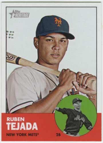 2012 Topps Heritage Ruben Tejada