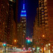 The Empire State Building in Blue for Autism Awareness Day. by RobNYCity