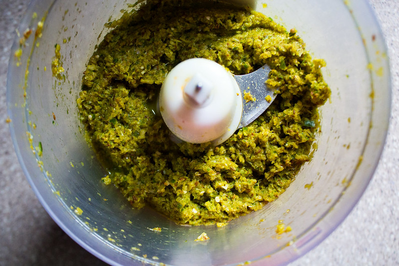 homemade Thai green curry paste