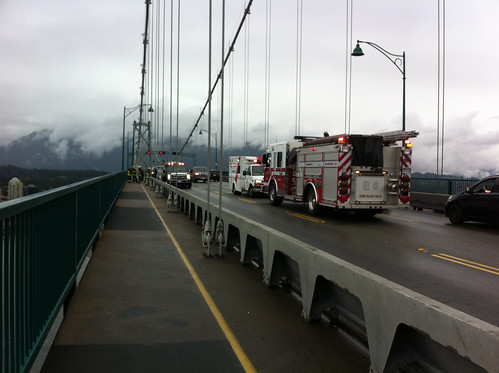 Accident on the Lions Gate Bridge