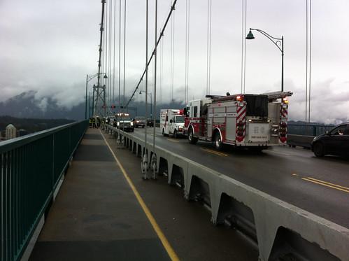 Accident on the Lions Gate Bridge