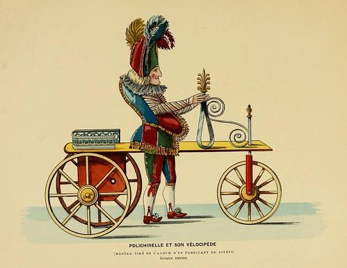 018-Polichinela con su bicicleta-Epoca Imperio-Histoire des jouets….1902- Henry René d' Allemagne