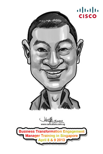 digital caricature for Ciso - 16