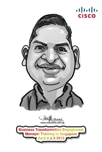 digital caricature for Cisco - 9