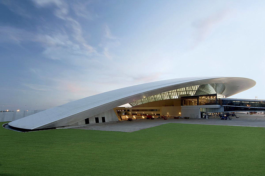 Carrasco International Airport design by Rafael Viñoly Architects