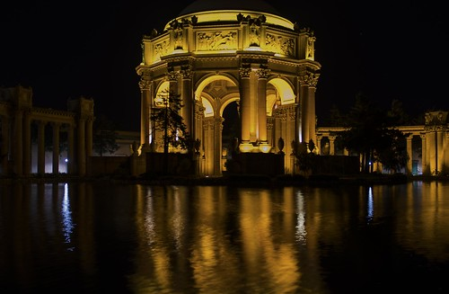 california city usa reflection by night marina lights golden bay san francisco long exposure tour district tourist destination northern palaceoffinearts nrpad