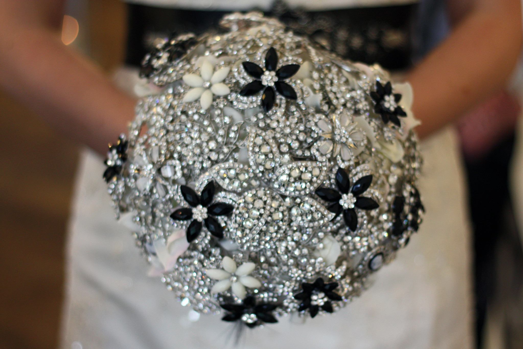 bling brooch bouquet