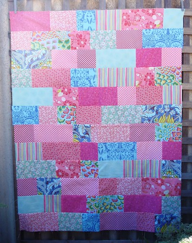 road trip quilt top - girl