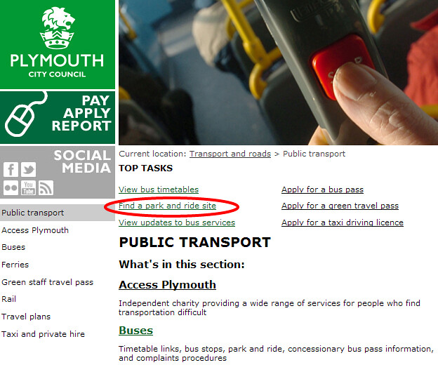 Plymouth City Council   Public transport