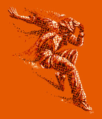 The orange dancer