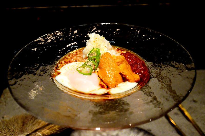 Uni & Poached Egg