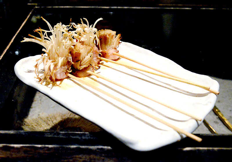 Bacon Wrapped Enoki Mushrooms