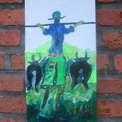 Rwandan Paintings by Augusin Hakizimana