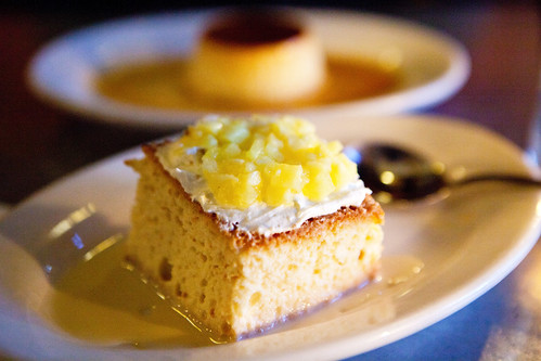 Desserts - Tres leches cake with pineapple and flan